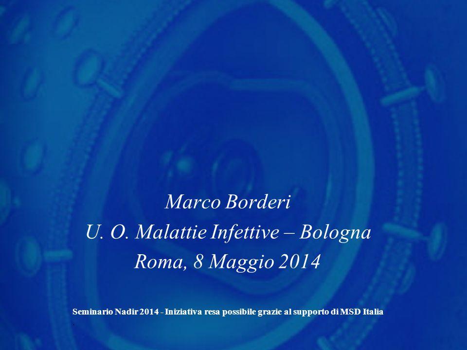 Marco Borderi U. O. Malattie Infettive – Bologna Roma, 8 Maggio 2014 Seminario Nadir 2014 - Iniziativa resa possibile grazie al supporto di MSD Italia