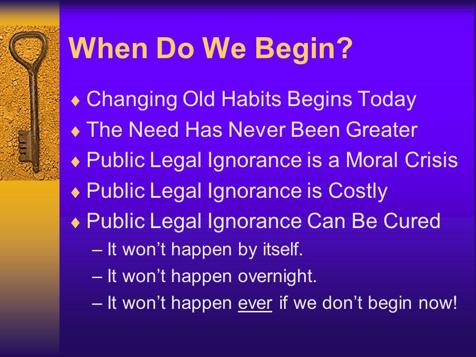 When Do We Begin.
