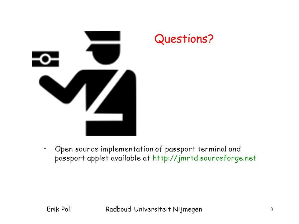 Erik Poll Radboud Universiteit Nijmegen 9 Questions.