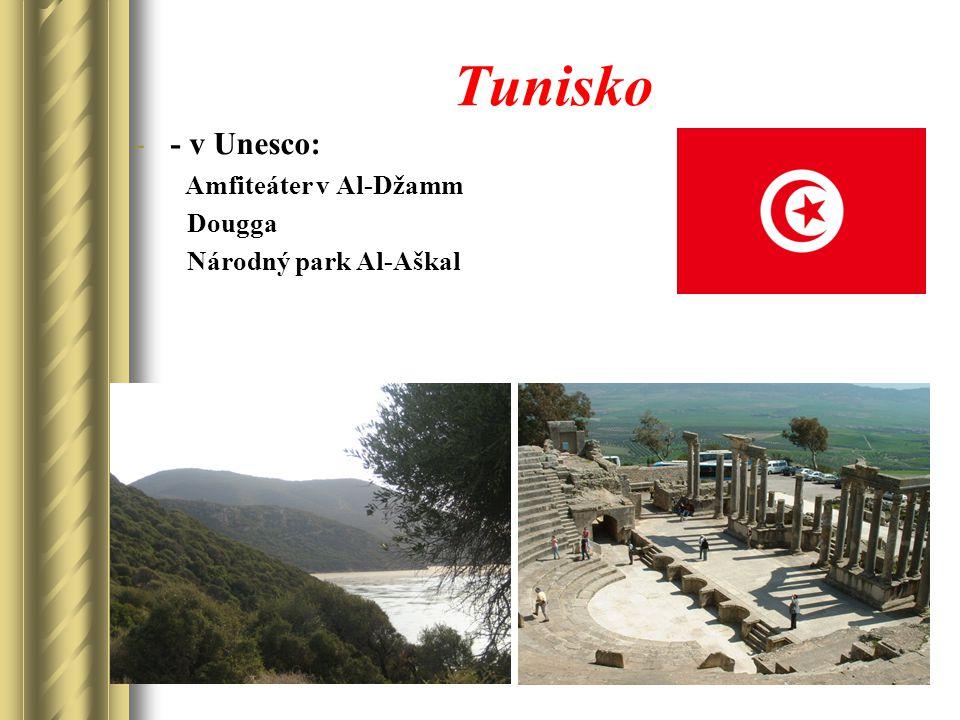 Tunisko -- v Unesco: Amfiteáter v Al-Džamm Dougga Národný park Al-Aškal