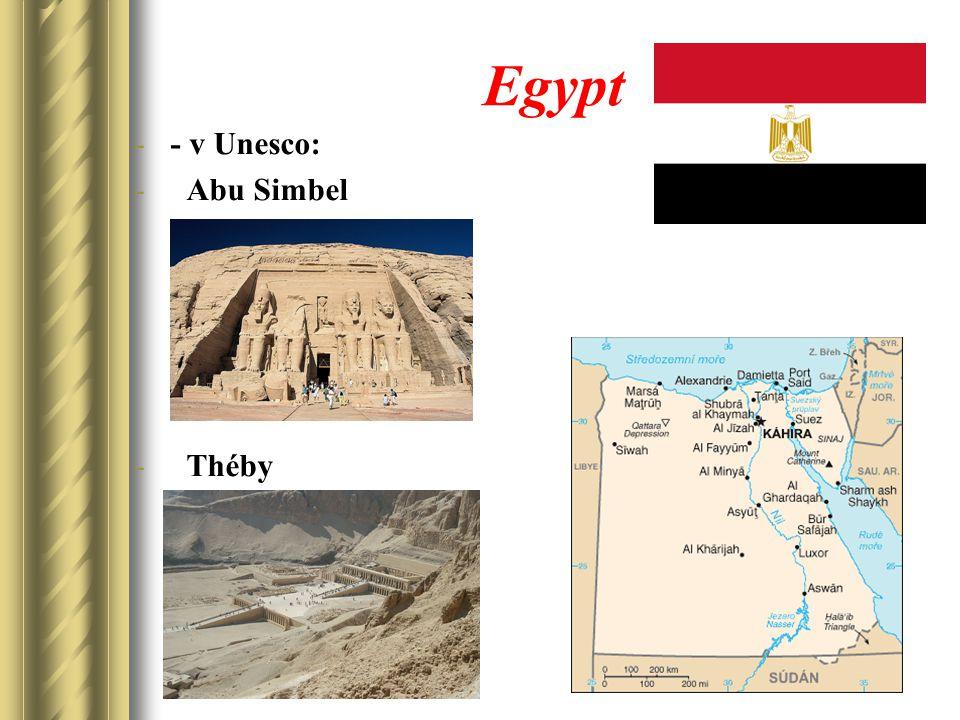 Egypt -- v Unesco: - Abu Simbel - Théby