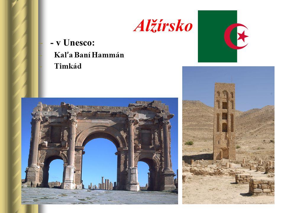 Alžírsko -- v Unesco: - Kal ' a Baní Hammán - Timkád