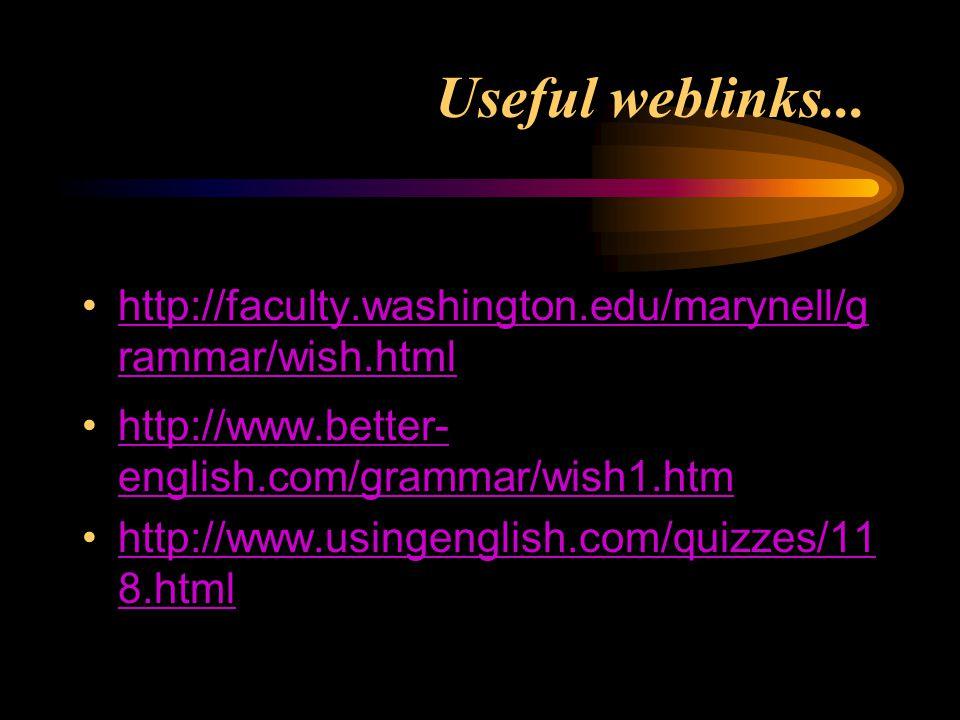 Useful weblinks...