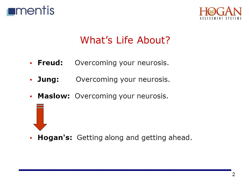 2 What's Life About. Freud: Overcoming your neurosis.