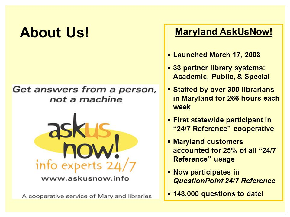 Maryland AskUsNow.