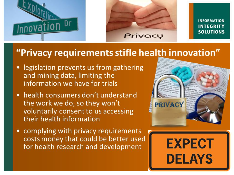 Health research is so important for the community that we shouldn't be forced to jump through privacy hoops