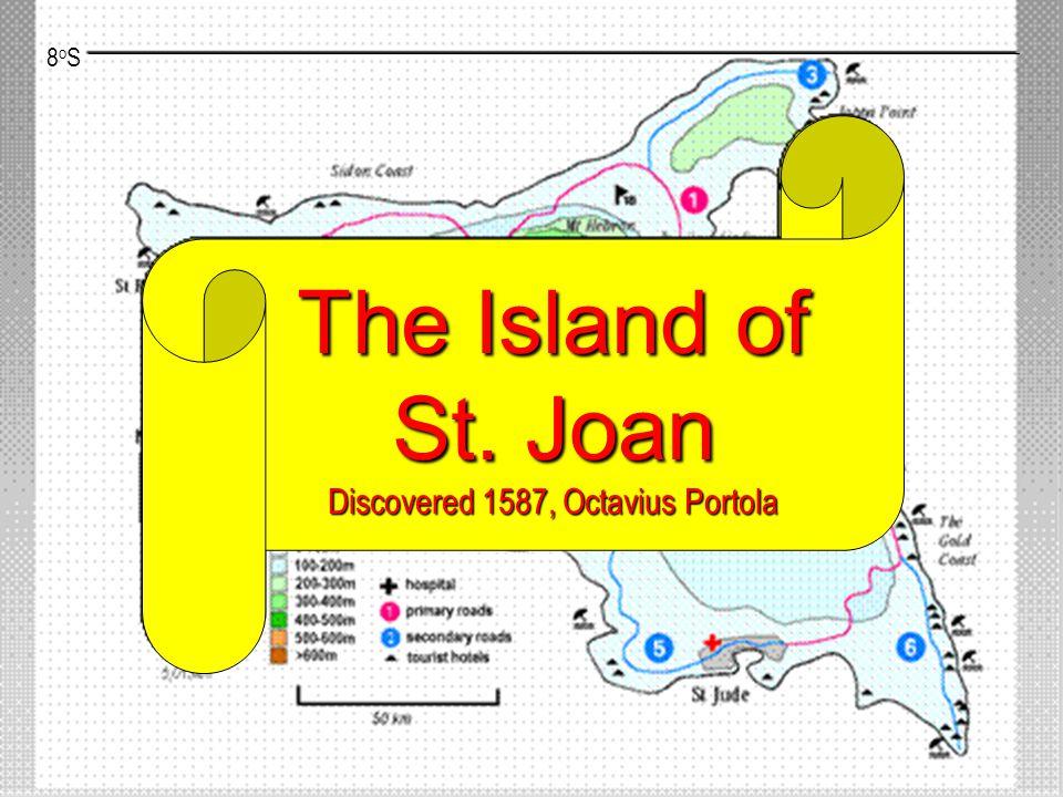 8oS8oS The Island of St. Joan Discovered 1587, Octavius Portola