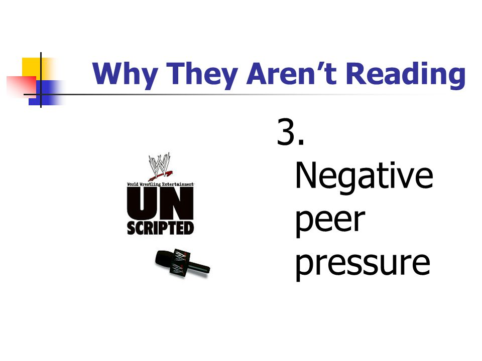 Why They Aren't Reading 2. Time and energy