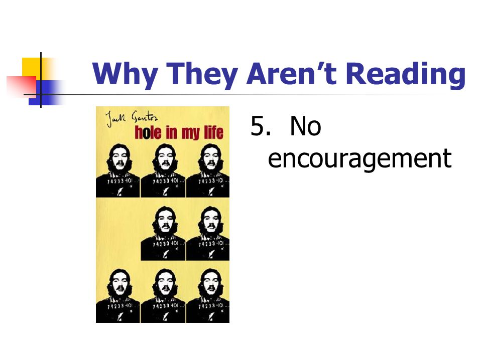 Why They Aren't Reading 4. Not stimulated by ideas / not practical