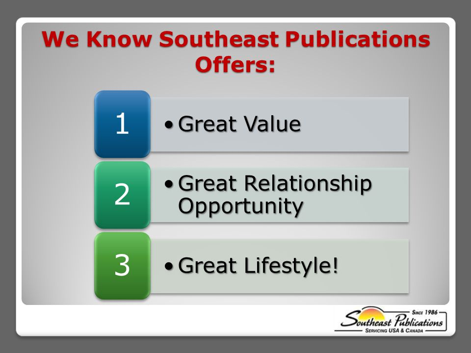 Great ValueGreat Value 1 Great Relationship OpportunityGreat Relationship Opportunity 2 Great Lifestyle!Great Lifestyle.