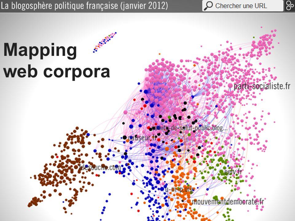 Mapping web corpora