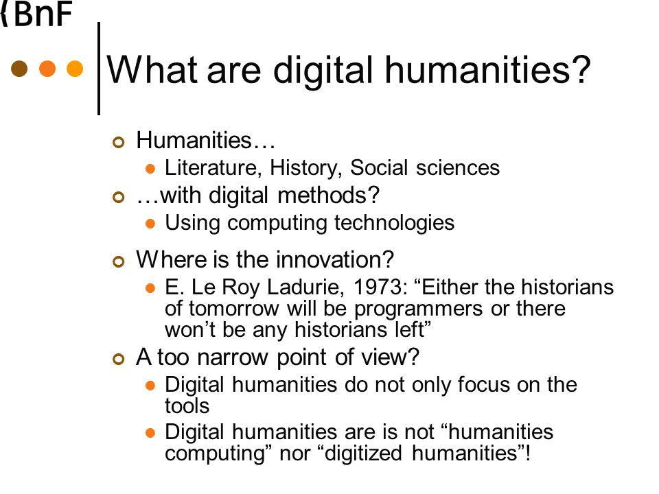 What are digital humanities.