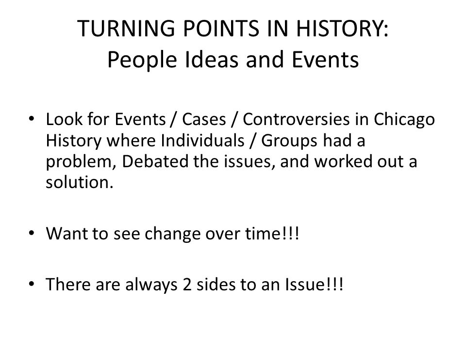 Remember… Your topic must be of Chicago Metro History.