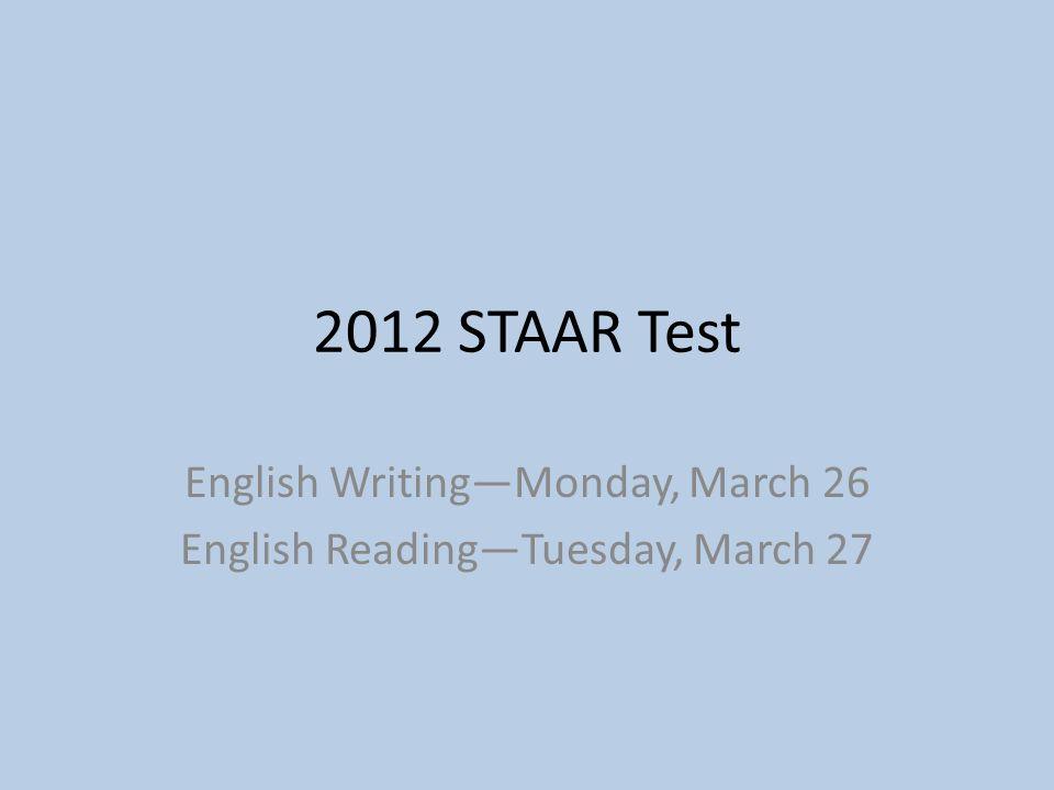 English Writing Test: Monday Part I: Revising and Editing: Revising and editing count as 48% of the total writing test score.