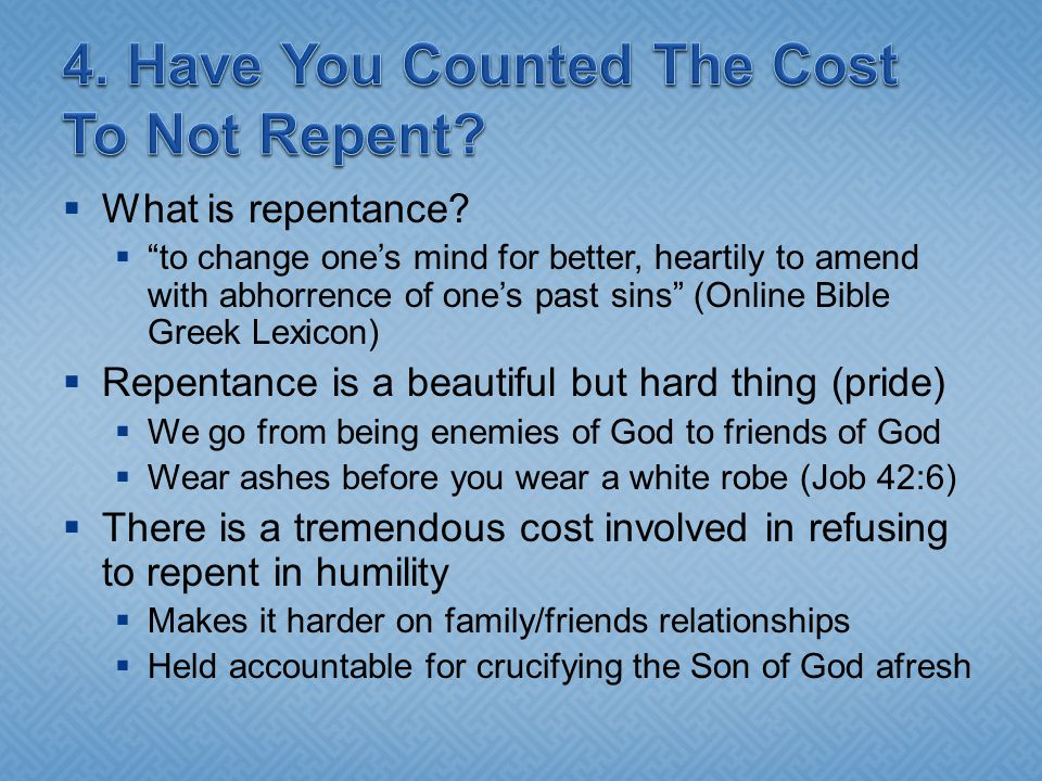  What is repentance.