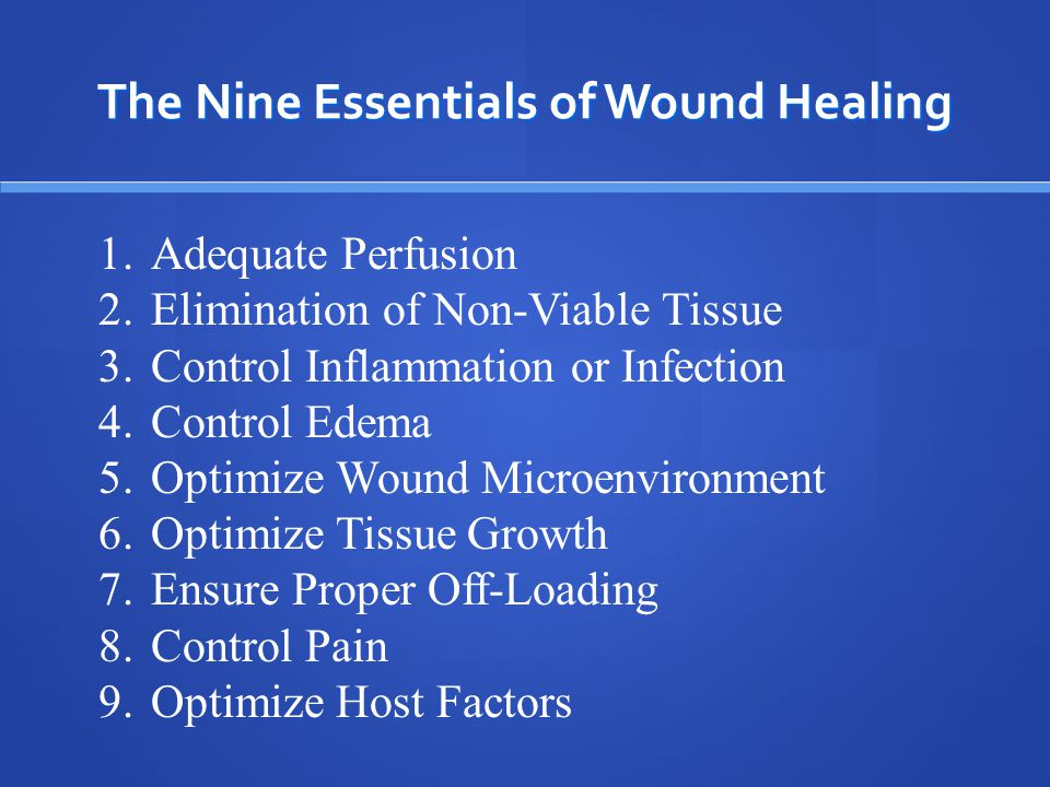 Objectives Become familiar with the fundamental aspects of wound healing and its interrelationship with oxygen Become familiar with the fundamental aspects of wound healing and its interrelationship with oxygen Become familiar with the process of evaluating patients for and instituting hyperbaric oxygen therapy Become familiar with the process of evaluating patients for and instituting hyperbaric oxygen therapy Recognize the physiologic and pharmacologic benefits of hyperbaric oxygen therapy Recognize the physiologic and pharmacologic benefits of hyperbaric oxygen therapy