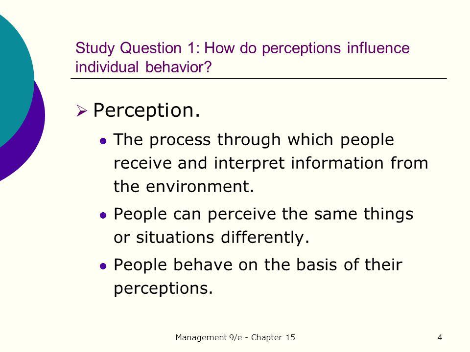 Management 9/e - Chapter 155 Figure 15.1 Perception and communication.