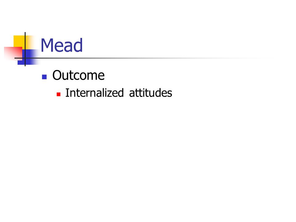 Mead Outcome Internalized attitudes