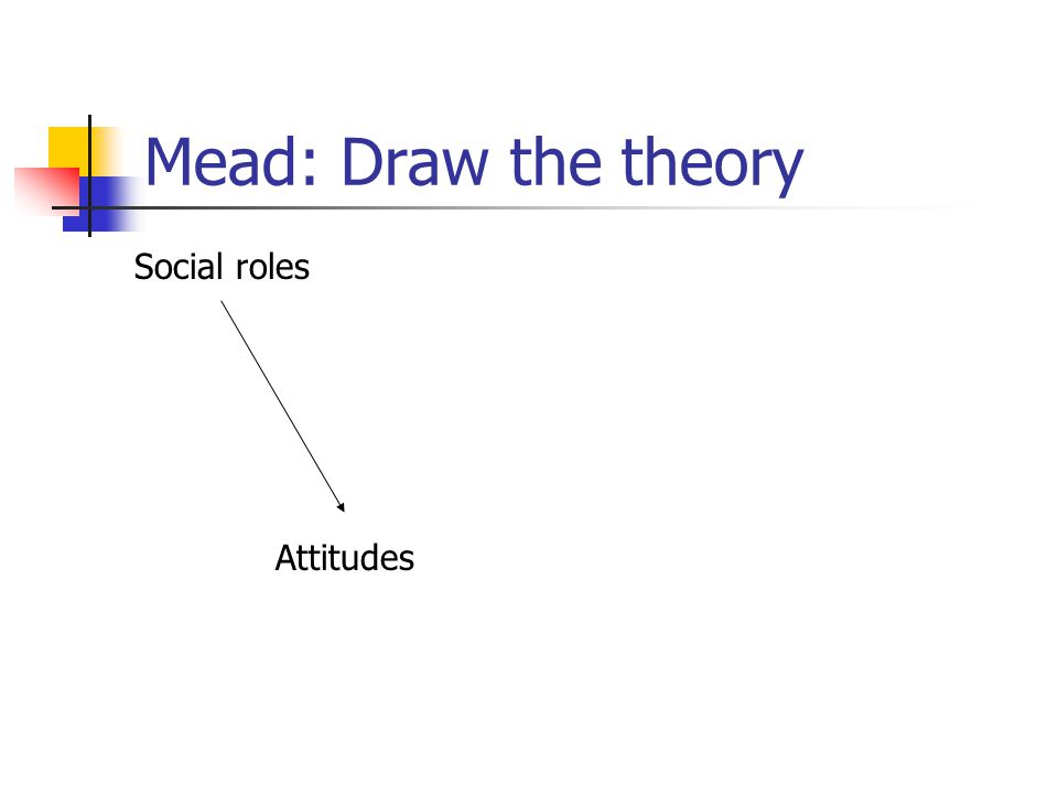 Mead: Draw the theory Social roles Attitudes