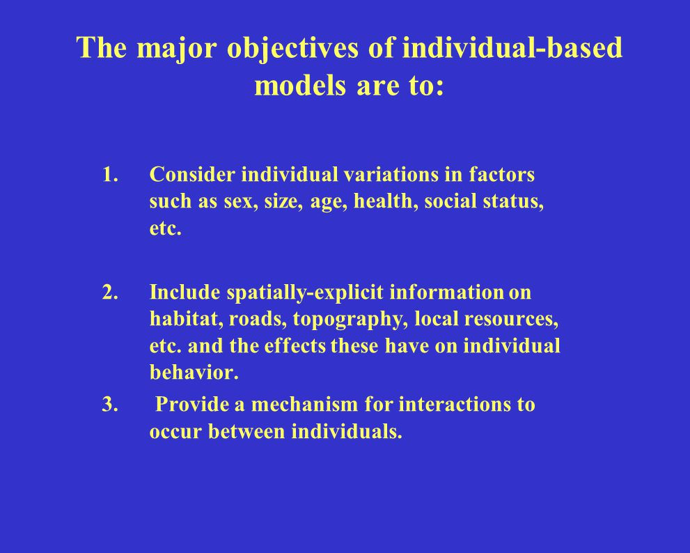 Are there other methods which account for individual-actions.