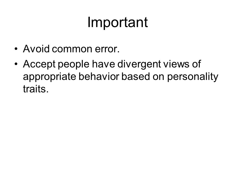 Important Avoid common error.