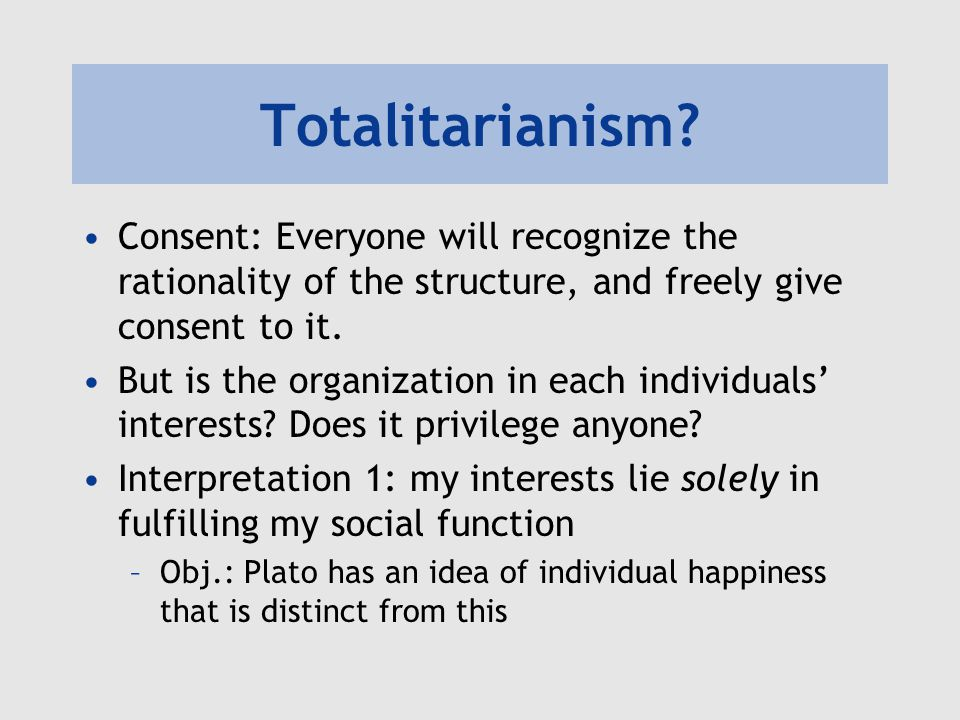 Totalitarianism.