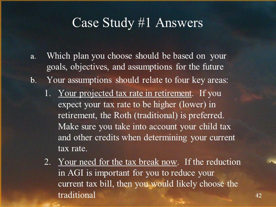 42 Case Study #1 Answers a.