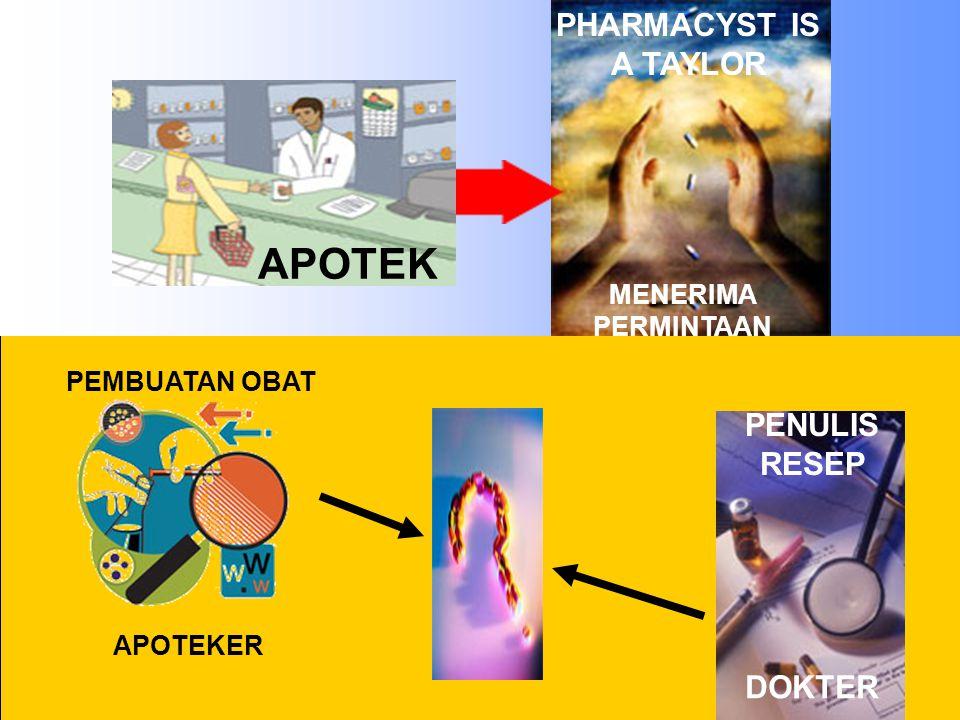 APOTEK PHARMACYST IS A TAYLOR MENERIMA PERMINTAAN PENULIS RESEP DOKTER PEMBUATAN OBAT APOTEKER