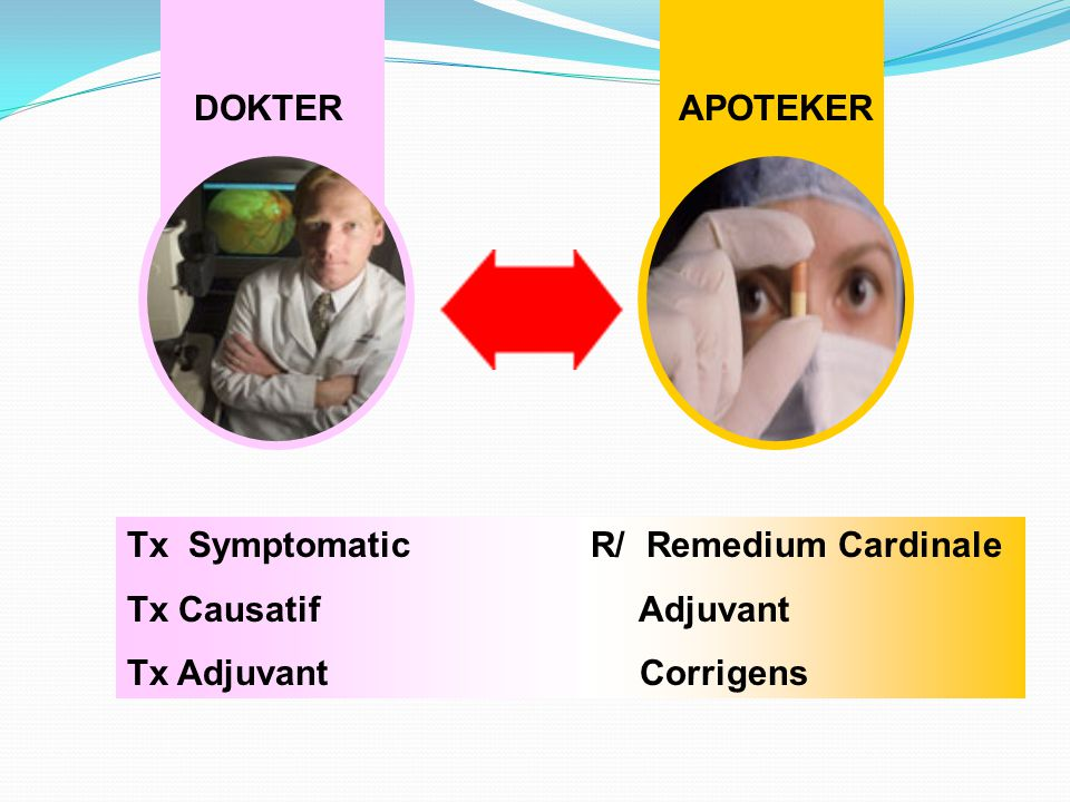 DOKTERAPOTEKER Tx Symptomatic Tx Causatif Tx Adjuvant R/ Remedium Cardinale Adjuvant Corrigens