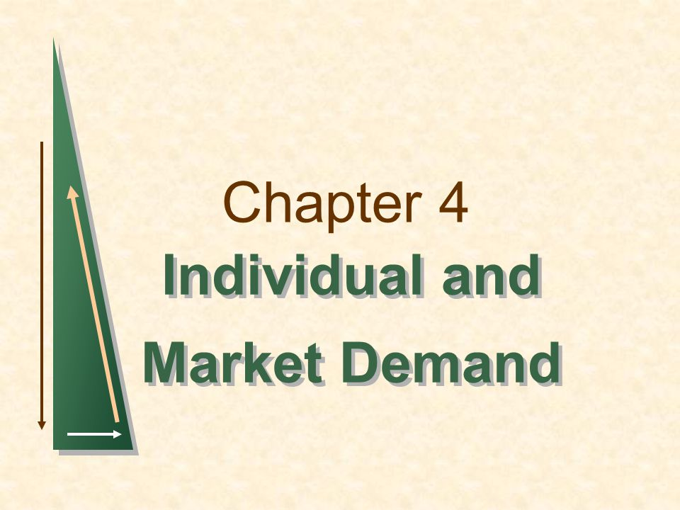 Chapter 4 Individual and Market Demand Individual and Market Demand