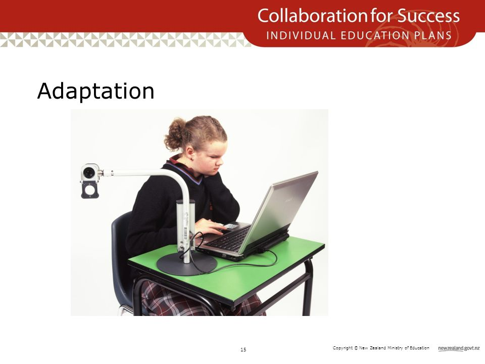 Copyright © New Zealand Ministry of Education Adaptation 15