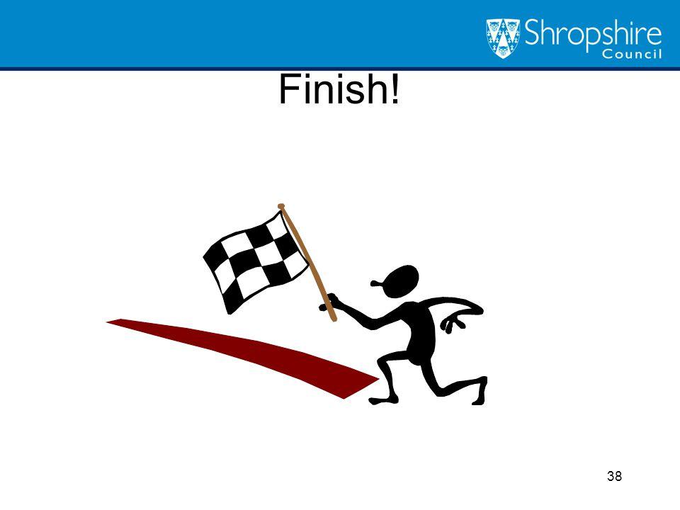 Finish! 38