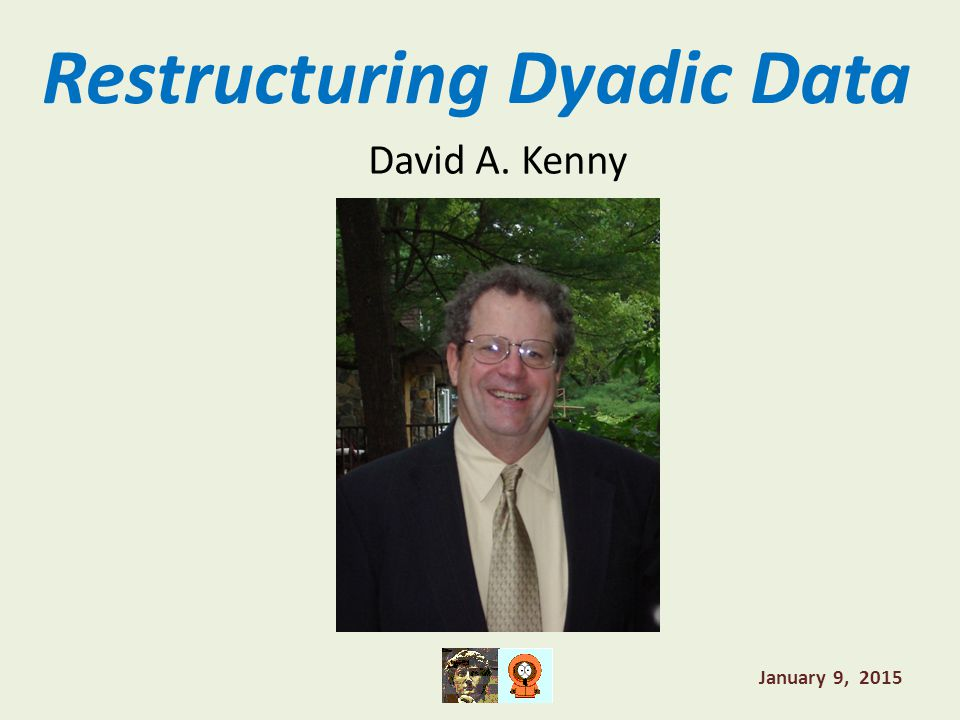 Restructuring Dyadic Data David A. Kenny January 9, 2015
