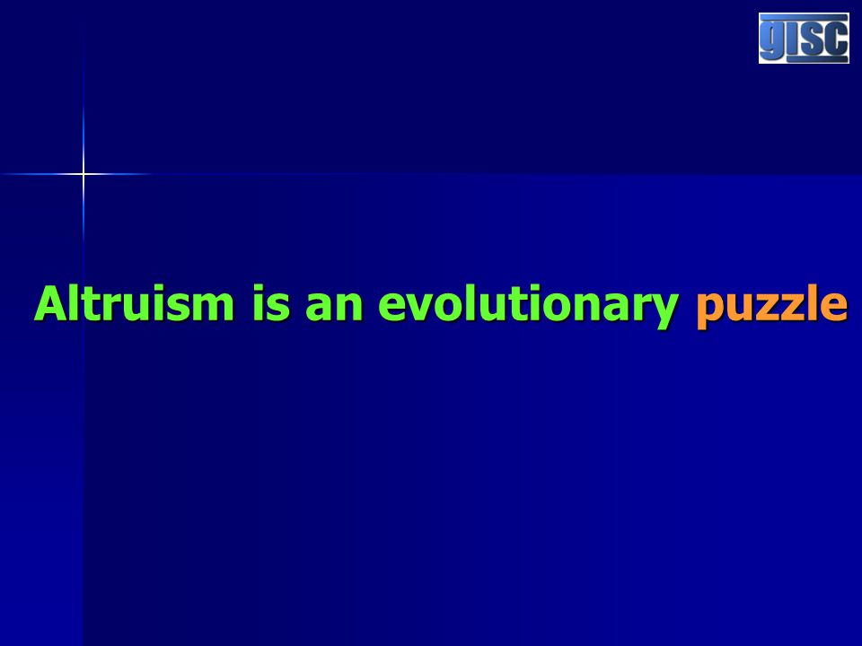 Altruism is an evolutionary puzzle