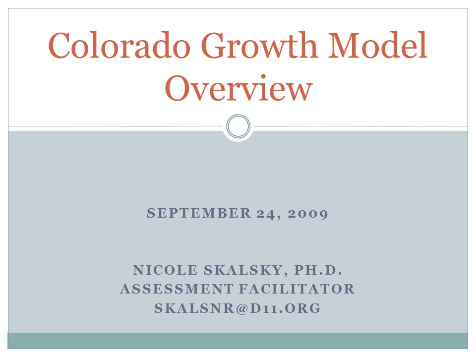 You should… See this as an introduction to the Growth Model.