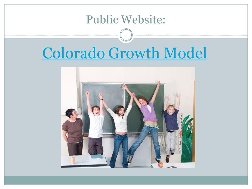 Public Website: Colorado Growth Model