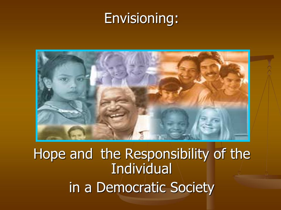 The Responsibility of the Individual in a Democratic Society Take [this story], for instance.