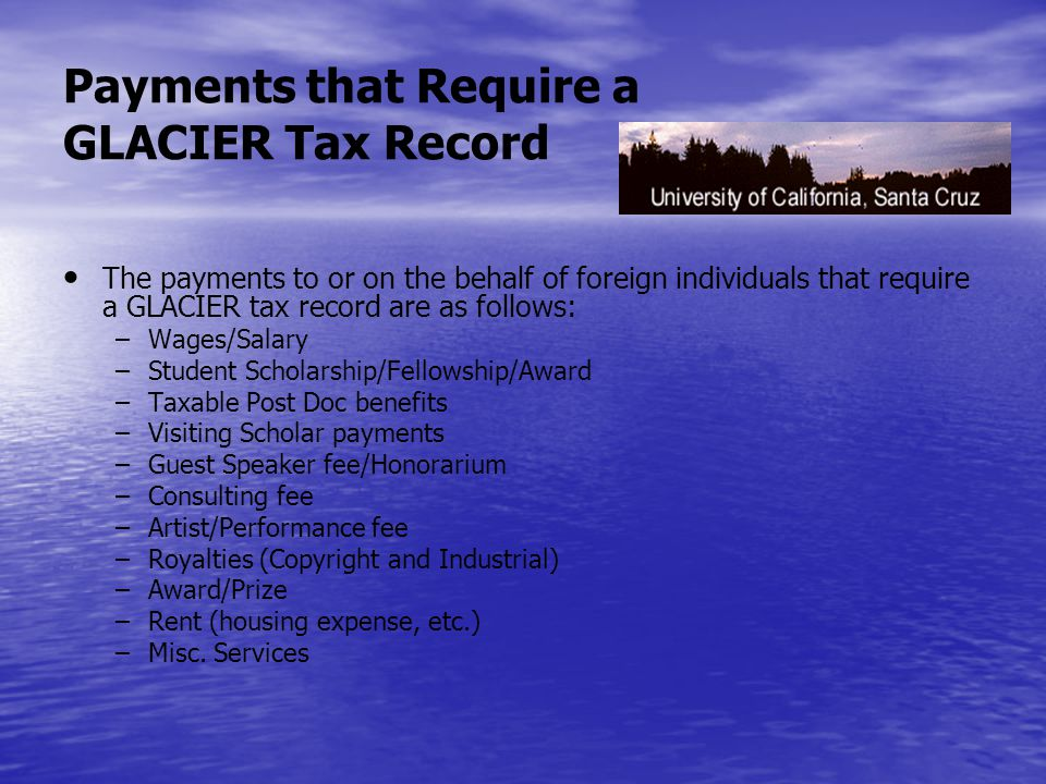 Why is a GLACIER record required.U.S.