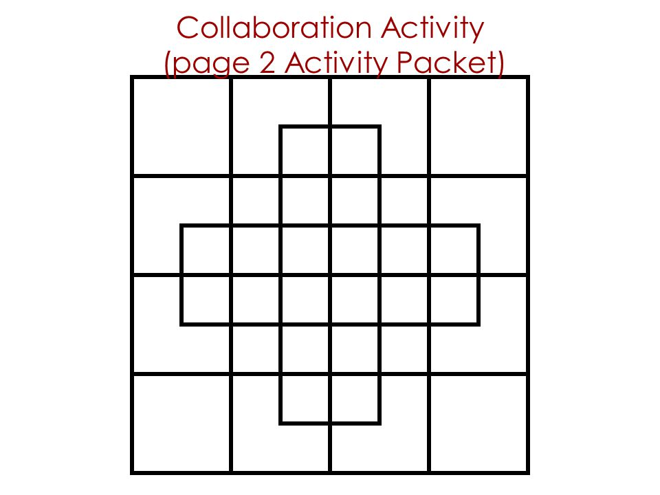 Collaboration Activity (page 2 Activity Packet)