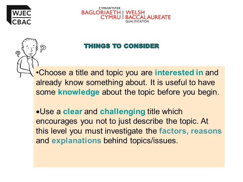 Choose a title and topic you are interested in and already know something about.