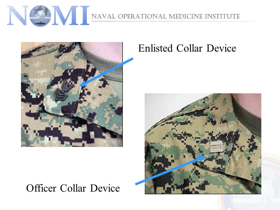Enlisted Collar Device Officer Collar Device