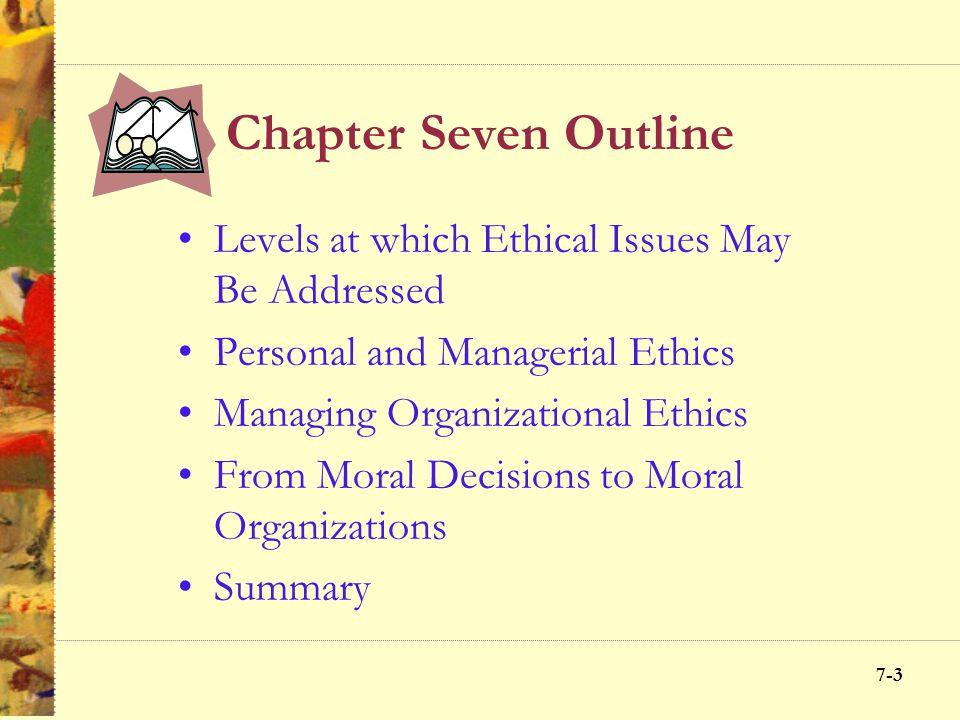 7-23 Managing Organizational Ethics 6-23