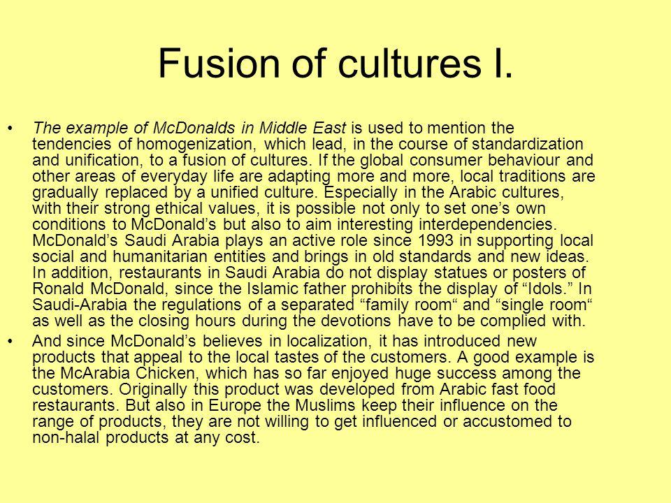 Fusion of cultures I.
