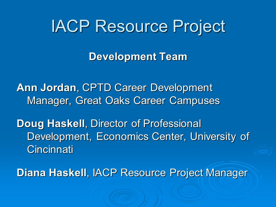 IACP Resource Project Individual Academic and Career Plan Online Resources Target User: Algebra I, Educators Content Area: Mathematics Purpose: Students experience the research method an engineer uses by examining the effects of multiple variables on an outcome.