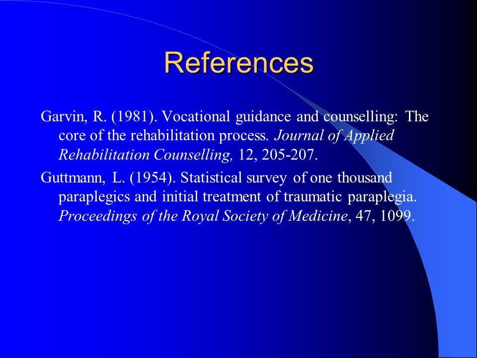 References Garvin, R. (1981).