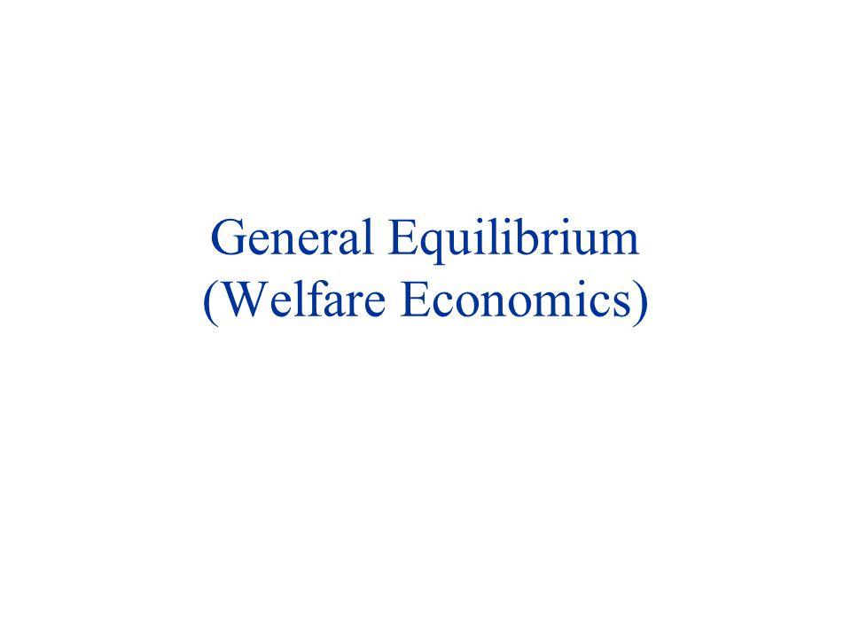 General Equilibrium (Welfare Economics)