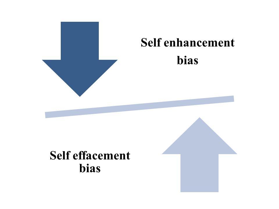 Self enhancement bias Self effacement bias