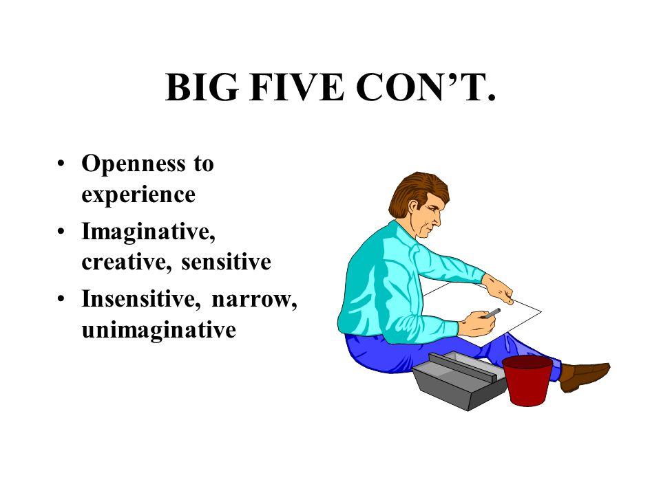BIG FIVE CON'T.