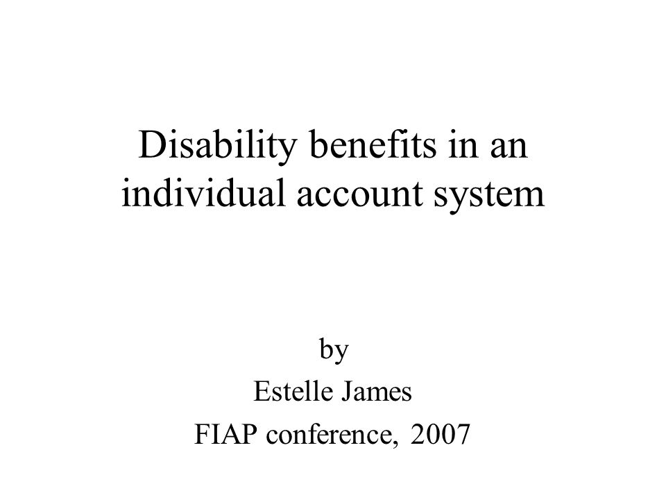 2 Wide variation in disability costs Disability take 10-30% of total soc sec costs –OECD: ranges from 2-3% of wage in low cost countries (US, Japan) to 5-10% in high cost countries (Netherlands, Portugal, Spain) –higher cost in E.& C.