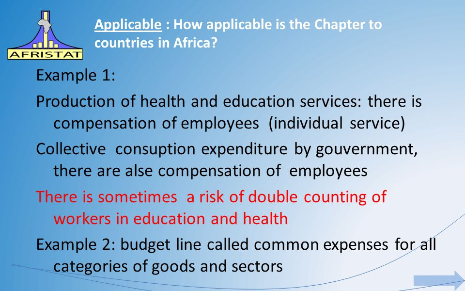 Applicable : How applicable is the Chapter to countries in Africa.